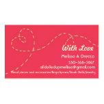 Hecho a mano con amor tarjeta de visita