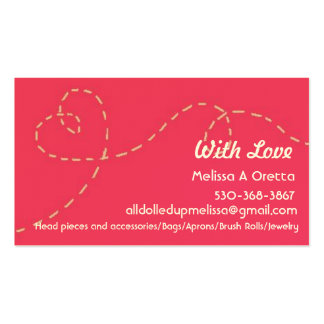 Hecho a mano con amor tarjetas de visita