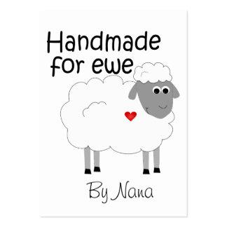 Hecho a mano para la oveja - giftcard plano del tarjetas de visita grandes