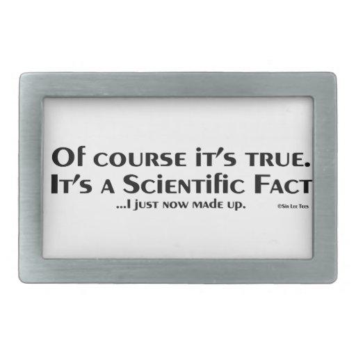 Hecho científico (ahora mismo compuse) hebilla de cinturon rectangular