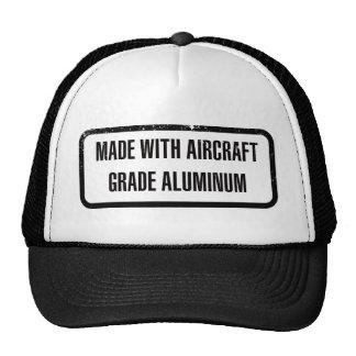 Hecho con aluminio del grado de los aviones gorra