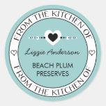 Hecho con amor de la cocina de la etiqueta