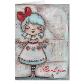 Hecho con amor - gracias cardar tarjeta de felicitación