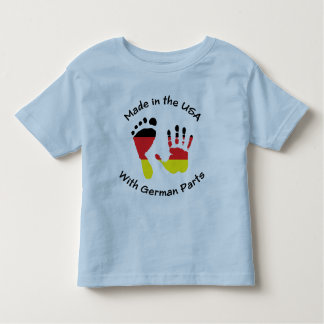 Hecho con el alemán parte la camiseta playera