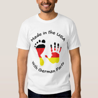 Hecho con el alemán parte la camiseta playeras