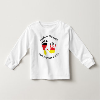 Hecho con el alemán parte la camiseta polera