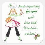 Hecho con el navidad del amor que cuece a los colcomania cuadrada