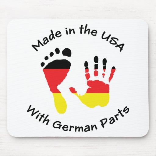 Hecho con las piezas alemanas tapete de ratón