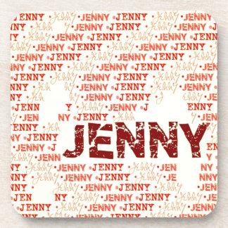 Hecho de las palabras JENNY Posavasos