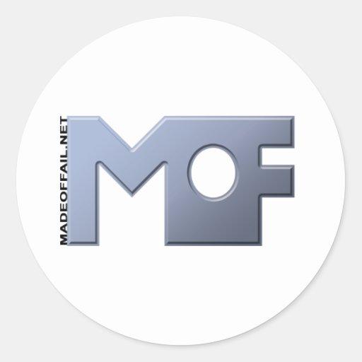 Hecho de logotipo del fall etiqueta