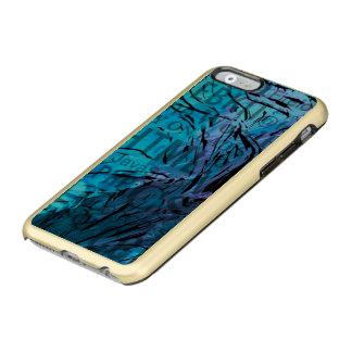 hecho de palabras, azul del ordenador funda para iPhone 6 plus incipio feather shine