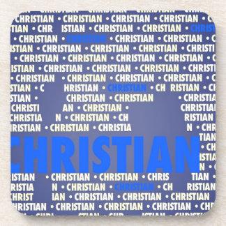 Hecho de palabras CRISTIANO Posavasos