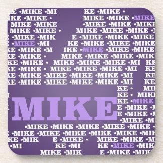 Hecho de palabras, MIKE conocido Posavasos De Bebidas