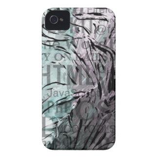 hecho de palabras, ordenador, aguamarina Case-Mate iPhone 4 cárcasas