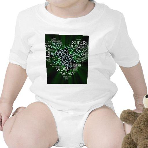 hecho de palabras, texto alemán traje de bebé