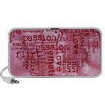 hecho de rosa de las palabras iPod altavoces