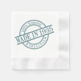 Hecho en 1935 servilleta de papel