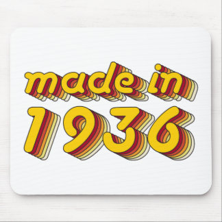 Hecho en 1936 (Yellow&Red) Mouse Pads