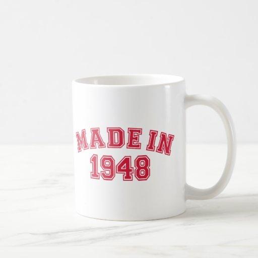 Hecho en 1948 tazas