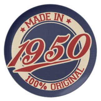 Hecho en 1950 platos para fiestas