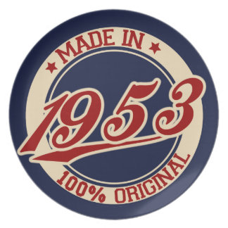 Hecho en 1953 platos