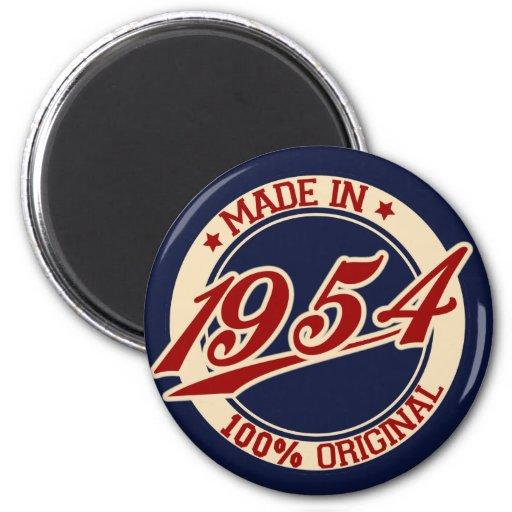 Hecho en 1954 imán redondo 5 cm
