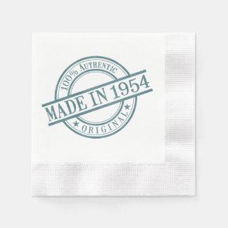 Hecho en 1954 servilleta de papel