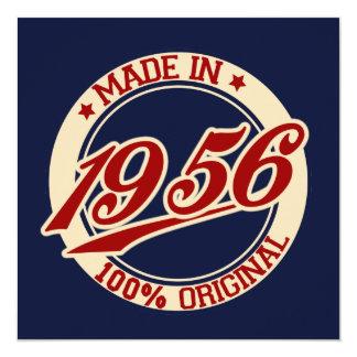 """Hecho en 1956 invitación 5.25"""" x 5.25"""""""