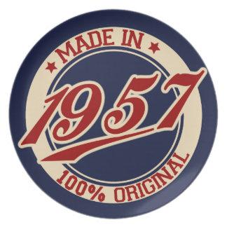 Hecho en 1957 platos para fiestas