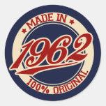 Hecho en 1962 etiqueta redonda