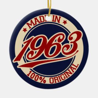 Hecho en 1963 ornamento de navidad