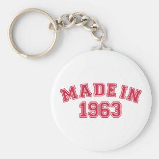 Hecho en 1963 llaveros personalizados