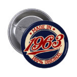 Hecho en 1963 pin