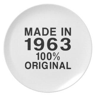 Hecho en 1963 platos