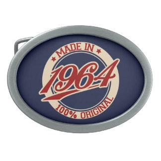 Hecho en 1964 hebilla de cinturón oval