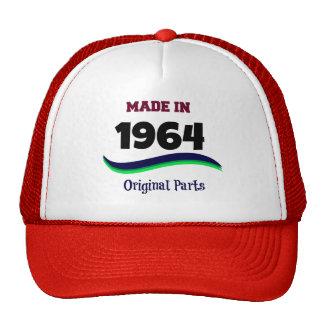 Hecho en 1964, piezas originales gorra