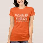 HECHO en 1965 toda la camiseta ORIGINAL de las pie