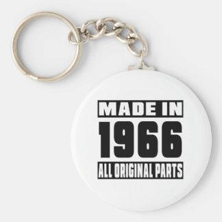 Hecho en 1966 llavero redondo tipo pin