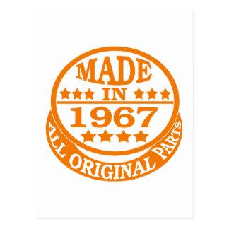 Hecho en 1967 todas las piezas de la original tarjetas postales