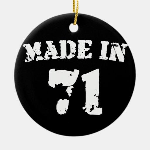 Hecho en 1971 ornamentos de navidad