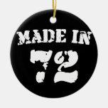 Hecho en 1972 ornamento de navidad