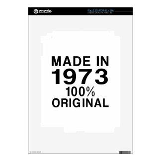 Hecho en 1973 calcomanía para el iPad 2
