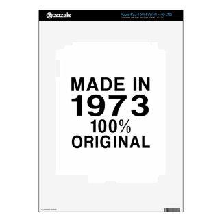 Hecho en 1973 pegatinas skins para iPad 3