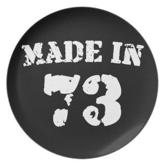 Hecho en 1973 platos para fiestas