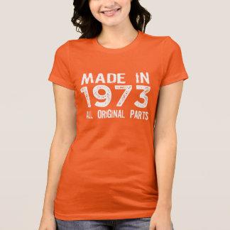 HECHO en 1973 toda la camiseta ORIGINAL de las pie Playeras