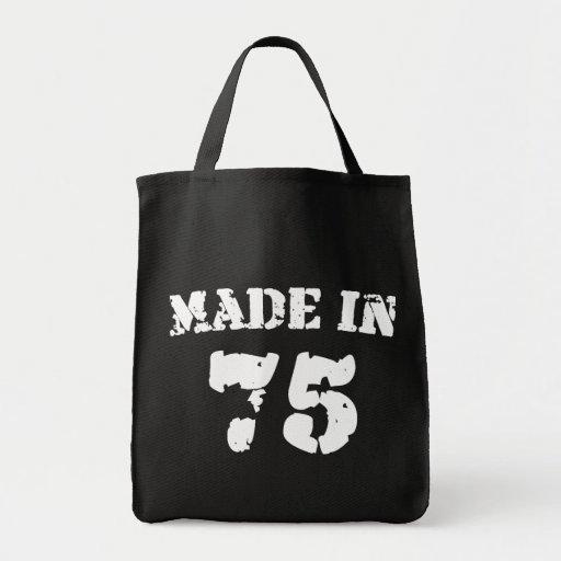 Hecho en 1975 bolsa tela para la compra