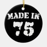 Hecho en 1975 ornamento para arbol de navidad