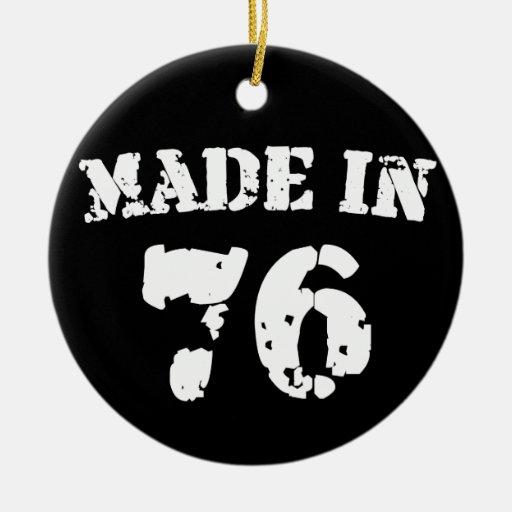 Hecho en 1976 adornos de navidad