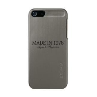 Hecho en 1976 carcasa de iphone 5 incipio feather shine