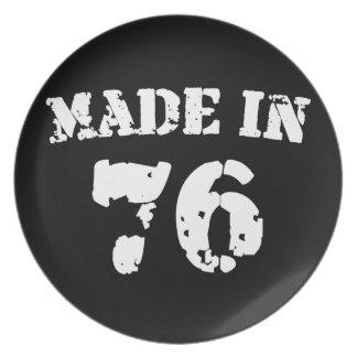 Hecho en 1976 plato para fiesta